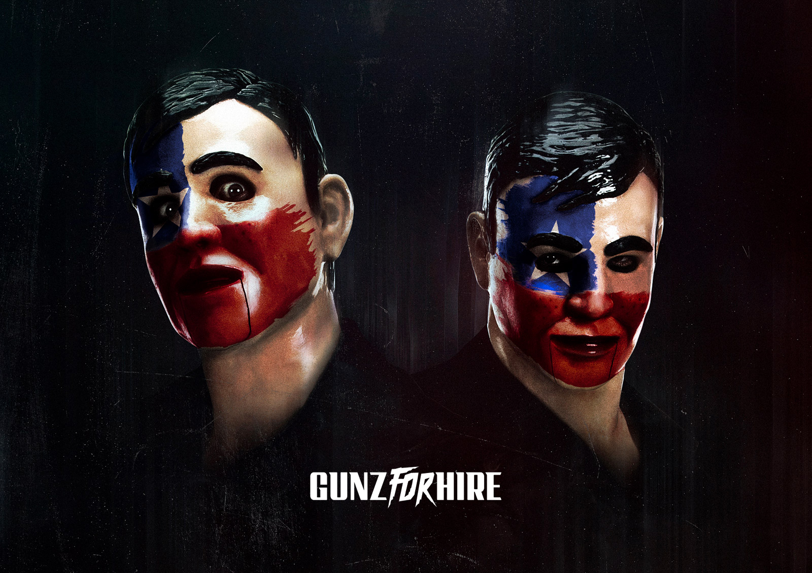 gunz for hire painted faces 1988 painted faces anxious color